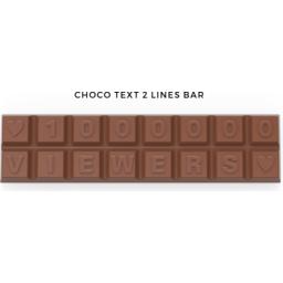 Chocoladetekst in gepersonaliseerde enveloppe bedrukt