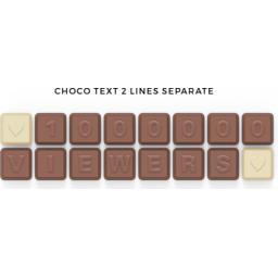 Chocoladetekst in gepersonaliseerde enveloppe bedrukte