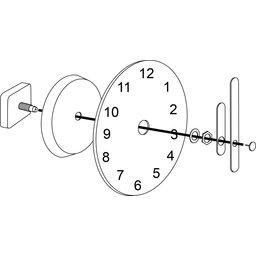 Clock Round 250 mm-uiteengezet