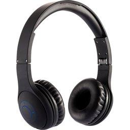 Comfortabele draadloze hoofdtelefoon van ABS met rubber finish, verpakt in EVA pouch