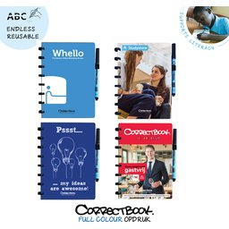 Correctbook - uitwisbare en herbruikbare notitieboek A5 bedrukken