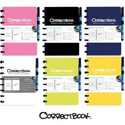 Correctbook - uitwisbare en herbruikbare notitieboek A5 correctbook