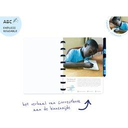 Correctbook - uitwisbare en herbruikbare notitieboek A5 verhaal