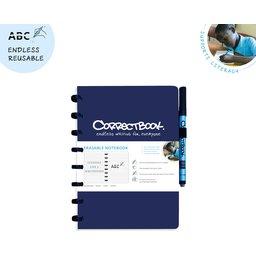 Correctbook - uitwisbare en herbruikbare notitieboek donkerblauw
