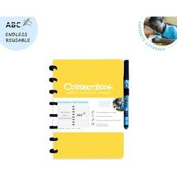 Correctbook - uitwisbare en herbruikbare notitieboek geel