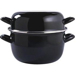 Cosy&Trendy Mosselpan 24 cm 4 kg:5 L, zwart