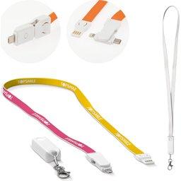 Custom Made Keycord en oplaadkabel kabel 3-in-1