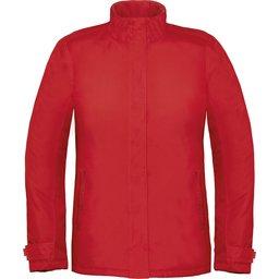 Dames winterjas Parka rood