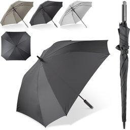 Deluxe 27 inch vierkante paraplu met draaghoes bedrukken