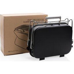 Deluxe draagbare barbecue in koffer-doos