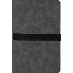 Deluxe hardcover PU A5 notitieboek met telefoon- en penhouder-achterzijde