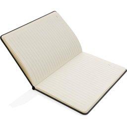 Deluxe hardcover PU A5 notitieboek met telefoon- en penhouder-open
