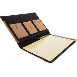 Deluxe kurken A4 portfolio met pen-binnenin