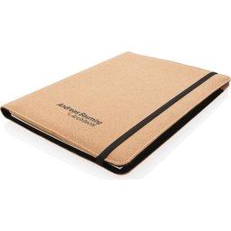 Deluxe kurken A4 portfolio met pen-gepersonaliseerd