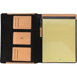 Deluxe kurken A4 portfolio met pen-openzijde