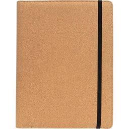Deluxe kurken A4 portfolio met pen- voorzijde