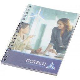 Desk-Mate® A6 wire-o notitieboek met PP-omslag wit