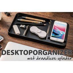 Desktop organizer met draadloze oplader bedrukken