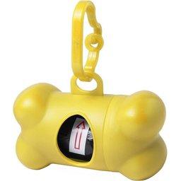 Dispenser met poepzakjes voor je huisdieren geel