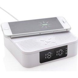 Draadloos oplader met speaker en digitale wekker