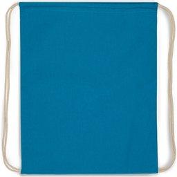 Drawstring Oeko-Tex® Cotton 35 x 45 cm-blauw recht