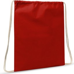 Drawstring Oeko-Tex® Cotton 35 x 45 cm-rood