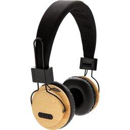 Duurzame bamboe draadloze hoofdtelefoon