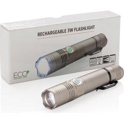 Duurzame herlaadbare 3W zaklamp