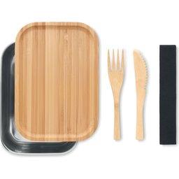 Duurzame lunchbox met bamboe deksel 1