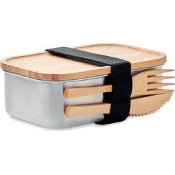 Duurzame lunchbox met bamboe deksel