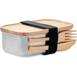 Duurzame lunchbox met bamboe deksel brooddos