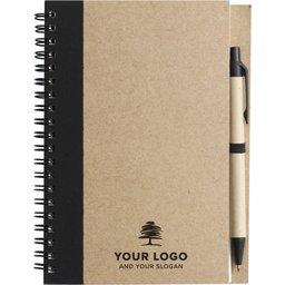 Eco notitieboekje met balpen bedrukken