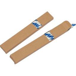 Ecologische set met 10 papieren rietjes blauw