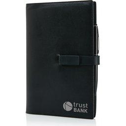 Executive 8GB USB notitieboek met stylus pen-bedrukt