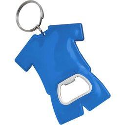 Fan sleutelhanger met flesopener blauw
