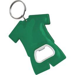 Fan sleutelhanger met flesopener groen
