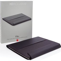 Fiko A4 portfolio met draadloos opladen& 5.000 mAh powerbank-verpakking