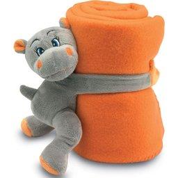 Fleece deken met nijlpaard