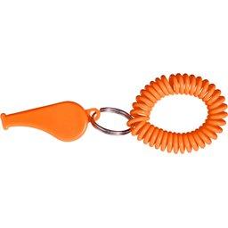 Fluitje polsband oranje