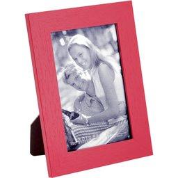 Fotolijst met houten frame rood