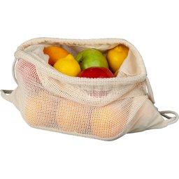 Fruit- en groeten rugzak met trekkoord sluiting 33x44cm