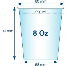 Gecertificeerde kartonnen bekers 8 Oz : 220 ml bedrukken