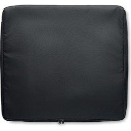 geïsoleerde tas Pizzaway-bovenzijde zwart