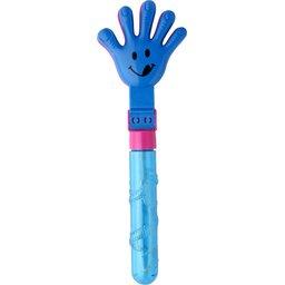 gekleurde handklapper en bellenblaas in één