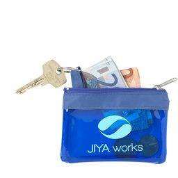 Geldbeurs en opbergetui voor sleutels of mondkapje bedrukken
