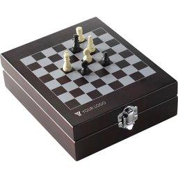 Geschenkset met schaakbord en wijn accessoires bedrukken