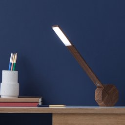 GK11W8 Gingko Octagon one Desk Light - Walnut