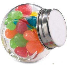 Glazen potje met snoepjes bedrukken