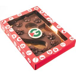 Grote chocolade letter
