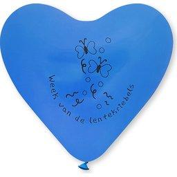 Hart balllonnen kleine afname blauw